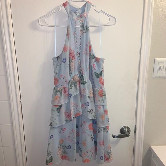 Express Dresses & Skirts - Floral express Halter Dress